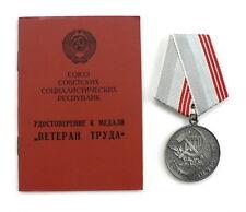 Medaille Veteran der Arbeit - neuer + Personalausweis 1990