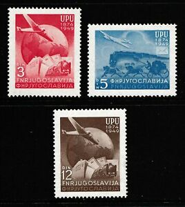 Yugoslavia 1949 Anniversary of UPU - MNH Set - Cat £5.60 - (198)