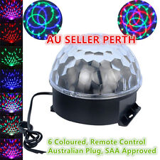 6 coloured LED Stage Party Disco Club DJ Ball Lights Crystal Ball Remote control