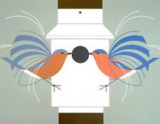 Charlie/Charley Harper - HOMECOMING - Cert of Auth - fun bird art