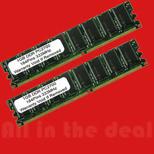 2GB Kit PC2700 LOW DENSITY DDR 2 X 1GB DDR 333 Mhz 184pin Desktop MEMORY