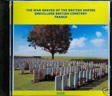 WAR GRAVES OF GREVILLERS BRITISH CEMETERY FRANCE CD