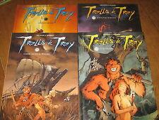 LOT 4 BD TROLLS DE TROY, TOMES 1 A 4 - SOLEIL TOUS EO + GROSSE COTE BE / TBE