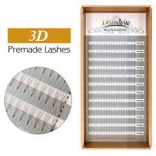 Lashview 0.05 C Premade 3D Volume Eyelash Extensions Pre-faned Lashes Soft 13mm