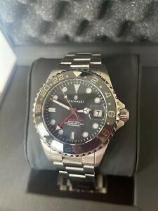 Steinhart Ocean 39 GMT BLACK Ceramic Uhr sehr gut erhalten!