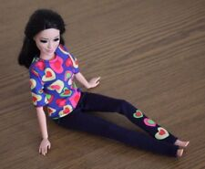 """Clothes for Barbie Doll. Shirt """"Hearts"""" print and leggings for Dolls."""