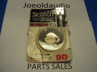 "NOS Vintage Scotch Reel Leader Timing Tape 3M 1/4"" x 100 Feet Cat No 24W-1/4-100"