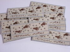Pack de 10 notes de voyage style brodé Note Livre l'artisanat making motifs # 27a69