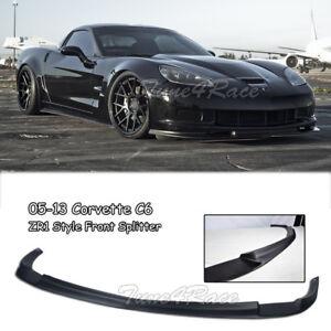 For 05-13 Chevrolet Corvette C6 Z06 ZR1 Style Front Lip Kit Splitter Bumper ABS
