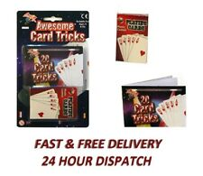 ABRACADABRA 20 AWESOME CARD TRICKS Pack of Plastic Coated Playing Magic Showcard