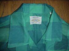 Vintage Arrow Decton Mens Shirt Large 1950s Loop Collar Rockabilly Cat Ec