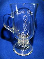 Latte Glass - I Love You Nana & a Little Boy Sand Etched on it.