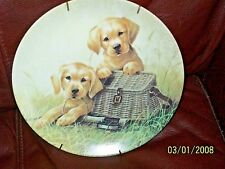 "1991 Edwin M. Knowles ""Gone Fishing"" By Lynn Kaatz Collector Plate"