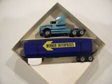WERNER FORD AEROMAX TRACTOR COVERED FLATBED TRAILER DIECAST WINROSS TRUCK