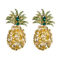 Fashion Jewelry Crystal Stud Cute Earring Women Pineapple Girls Fruit Earrings