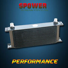 Universal 16 Row AN10 Engine Transmission Oil Cooler Mocal Style Black