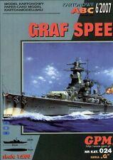 German cruiser Admiral Graf Spee paper model 1:200 huge 93cm