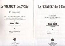 60  Leçons de Solfege les GRADUS des 7 Clés Ier et IIeme recueil
