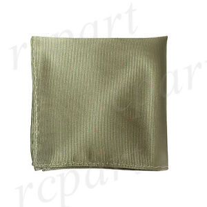 New polyester woven pin striped pocket square hankie handkerchief sage green