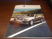 2007 BMW 3-Series Convertible 68-page Sales Catalog