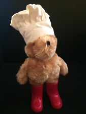 Vintage 1981 Standing Paddington Bear With Chefs Cooks Hat Red Boots Eden 14""