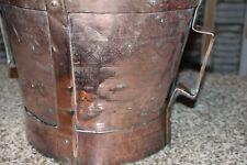 Ancienne mesure  en cuivre  ferrat XVIIIème   Auvergne art populaire
