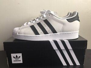 Adidas Original Superstar ADV Core White Black Gold Mens Size 8.5 New W/Box+Tags