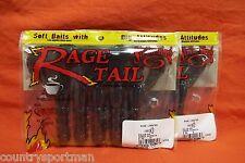 """STRIKE KING Rage Tail 5"""" Rage Lobster (5 cnt)(2 pks) #RGLOB-46 Green Pumpkin"""