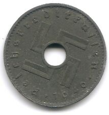 Nazi WWII Germany 1940 A 10 Reichspfennig Swastika Coin KM 98 Reichskreditkassen
