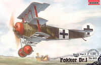 Fokker Dr.I German Fighter Aircraft WWI 1/32 Scale Plastic Model Kit RODEN 601