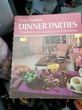 Betty Crocker's Dinner Parties First Printing 1970 Hard Cover Spiral Illustrated
