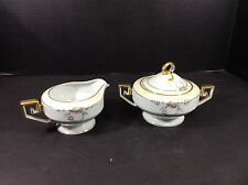 BEAUTIFUL ANTIQUE RARE TIESCHENREUTH BAVARIA CREAMER & SUGAR-STUDIO PATTERN