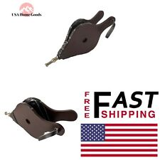 Black Fireplace Bellow Functional Tool 15 in. Zinc-Cast Nozzle River/ Leather