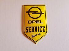 Workshop Sign 12x12 cm Shield Door Sign Logo Opel Enamel Sign