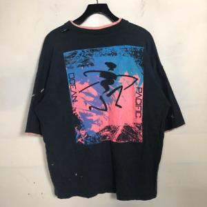 Vintage 80s Ocean Pacific OP Surf T-Shirt Mens SZ XL 90s Neon Black Surfer A7