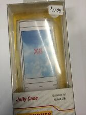 Nokia X6 Fitted TPU Jelly Case Cover Clear JCNOKX6CS - A Brand New Original Pack