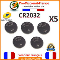 Lot 5 piles CR2032 3V  LITHIUM LM2032 SR2032 DL2032 L14 5004LC BR2032 EA-2032C