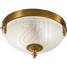 Deckenleuchte Lampe antik Metall bronze Glas opal Leuchte Ø 310mm :