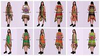 Indian Strickjacke Kleid Dashiki Beachwear Kimono Baumwolle Damen Bolero Mantel