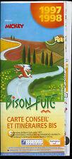 Rare French Bison Fute Super Les Vacances Avec Map Mickey Mouse Donald Duck