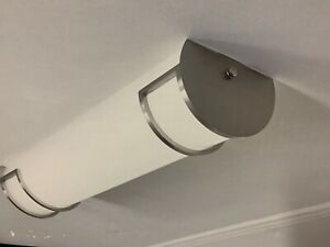 LED 24 Inch Bath Light Flushmount Fixture Brushed Nickel Finish Open Item