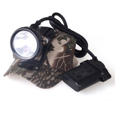 Rechargeable 25000LUX 5W LED Miner Light Headlight Mining Lamp Hunting Fishing
