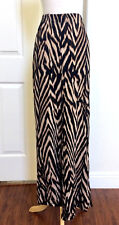 CHICO'S TRAVELERS SIZE 3 (XL) *NEW BLACK-BROWN WAVE ELASTIC WAIST PALAZZO PANTS