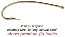 2457 50pk /& 100pk 1x heavy wire #7051 Nymph Pupa fly tying hooks #24-#10
