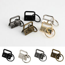 10Pcs Key Fob Hardware 26mm keychain Split Ring Wrist Wristlets Cotton Tail Clip
