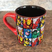 Marvel Comics Super Heroes Coffee Tea Cup Mug Spiderman Ironman Hulk Wolverine