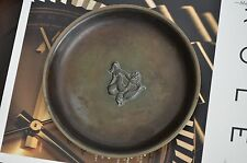 JUST ANDERSEN Art Deco Light Bronze Plate Cast Made in Denmark Bowl LB 139 Dish