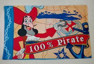 VTG Disney Standard Pillowcase Captain Hook Pirate & Pirate Kids Treasure Hunt