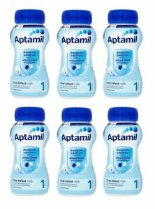 Aptamil First Milk 1 Ready to Feed  From Birth 200ml - 6 Pack
