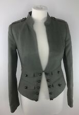 WHISTLES Ladies Green Cropped Military Style Fitted Jacket SUMMER UK 8 EU 36